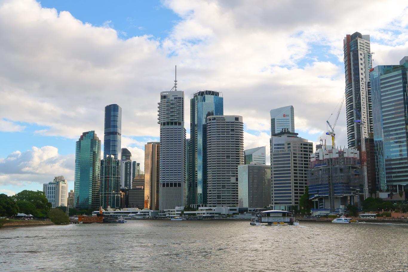 Brisbane City riverfront cityscape Queensland Australia