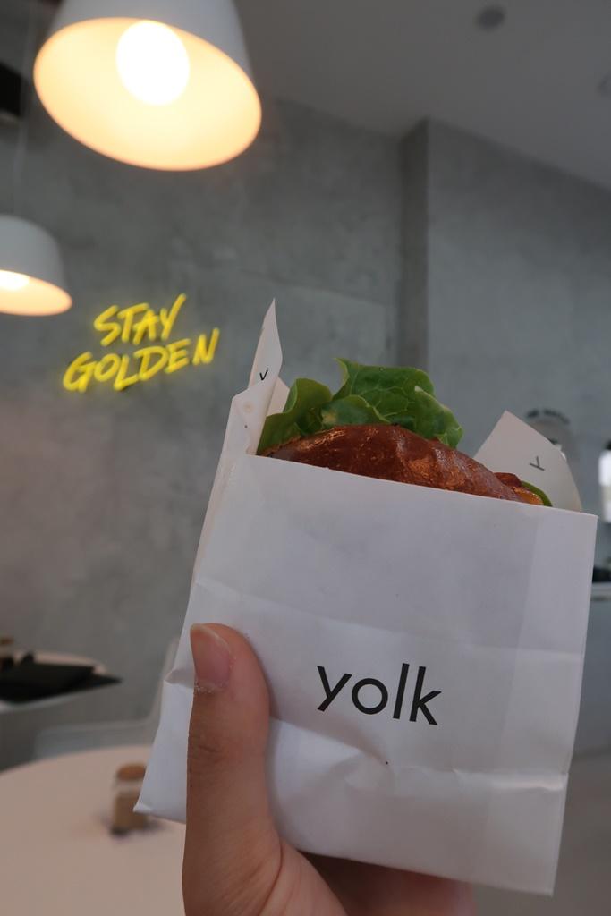 Yolk egg and bacon roll brisbane stay golden