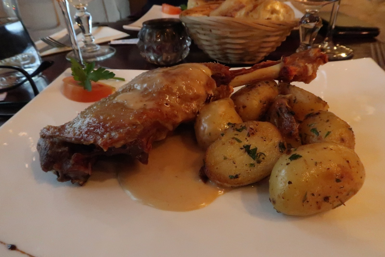 confit de canard french food traditional lunch menu