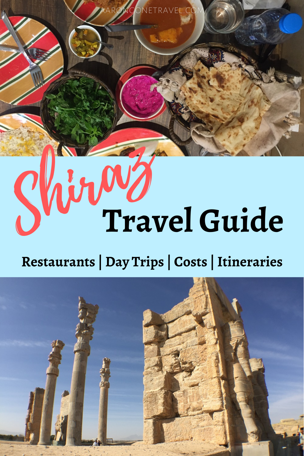 Going to Shiraz soon? Make sure you check this ultimate Shiraz Travel Guide out! This travel guide carefully curates all the top attractions in Shiraz, best restaurants in Shiraz, day trips in Shiraz and the cost of travel in Shiraz. #shiraziran #irantravel #shiraztravelguide #iran #shiraz