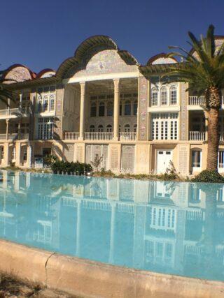 Qavam house eram gardan baq e eram blue pond palm trees shiraz travel guide
