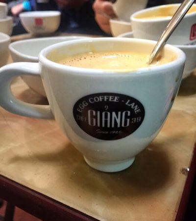 coffee, vietnamese coffee, egg coffee, hanoi street food, hanoi egg coffee, ca phe trung
